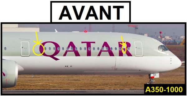 Différencier les versions de l'Airbus A350 5