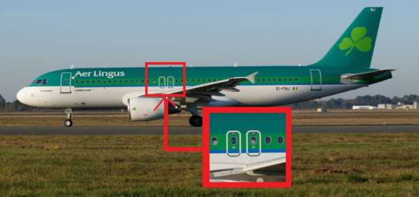Airbus A320 Aer Lingus et ses sorties de secours