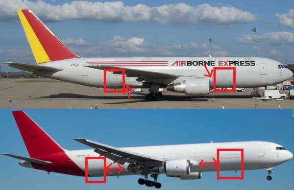 Différencier le Boeing 767 et ses versions 22