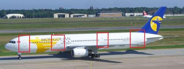 Différencier le Boeing 767 et ses versions 2