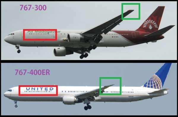 Différencier le Boeing 767 et ses versions 4