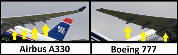 volets Airbus A330 vs Boeing 777