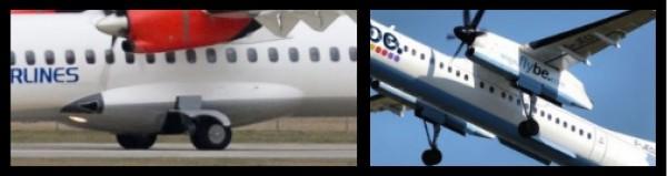 Différencier un ATR 72 d'un Dash 8 Q400 2