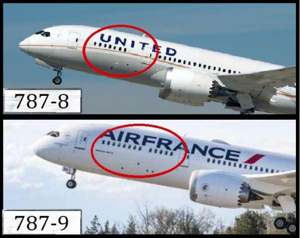 Différences entre les versions du Boeing 787 Dreamliner 8