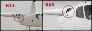 Différencier les Robinson R22 R44 et R66 2