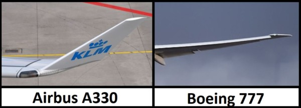 winglets Airbus A330 vs Boeing 777