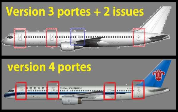 Les différentes versions du Boeing 757 1