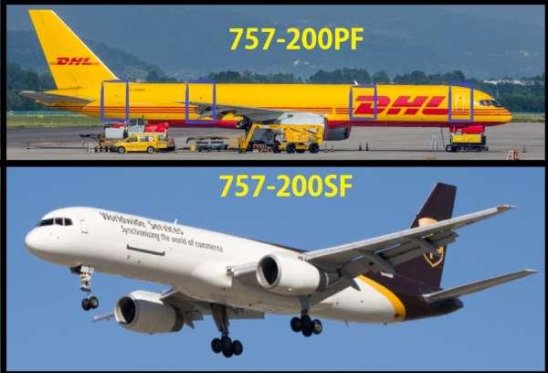 Les différentes versions du Boeing 757 3
