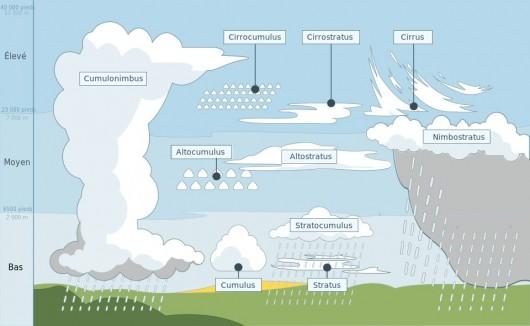 Différents types de nuages