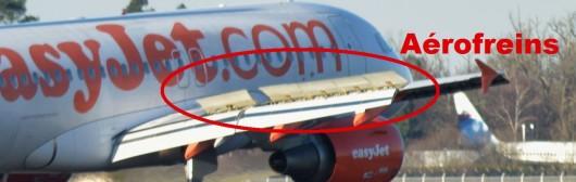 aérofreins d'un avion