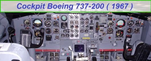 Cockpit d'un 737-200