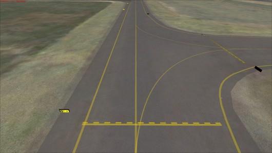 Taxiways d'un aéroport