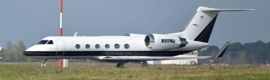 Gulfstream IV à l'aéroport Bordeaux-Mérignac