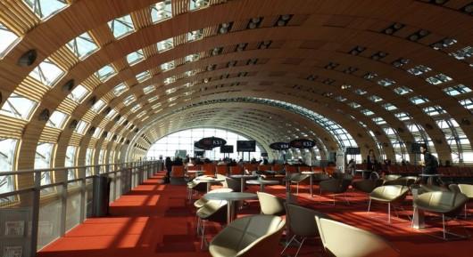 Hall d'embarquement K à Paris CDG