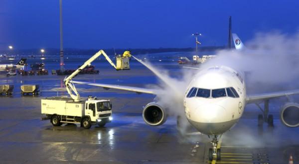 Dégivrage d'un avion de ligne