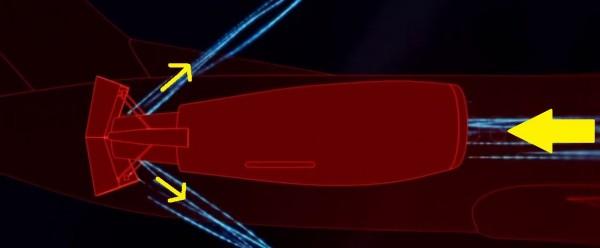 fonctionnement d'un inverseur de poussée