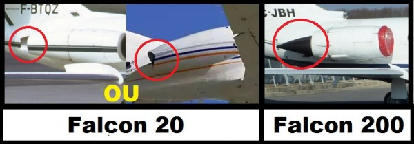 falcon 20 ou 200