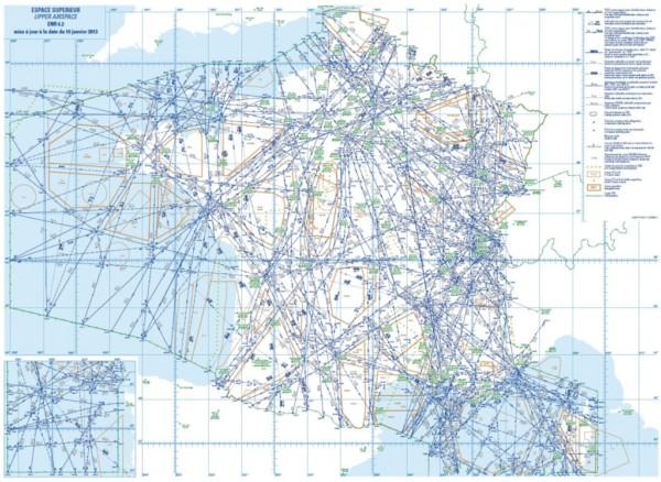 Les routes aérienne supérieures en France