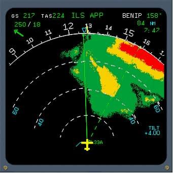 Radar météo avion