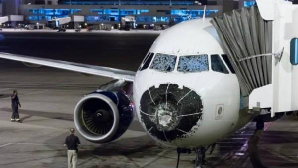 Nez d'un avion endommagé