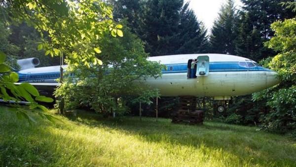 Avion transformé en maison