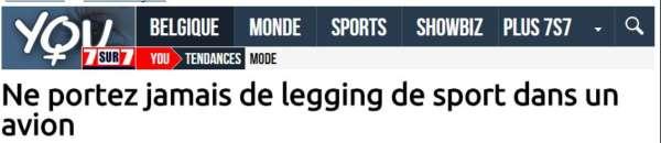 titre d'un article de presse