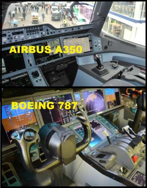 Différences de cockpit A530 et 787