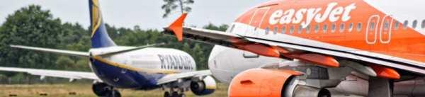 Avions Ryanair et easyJet