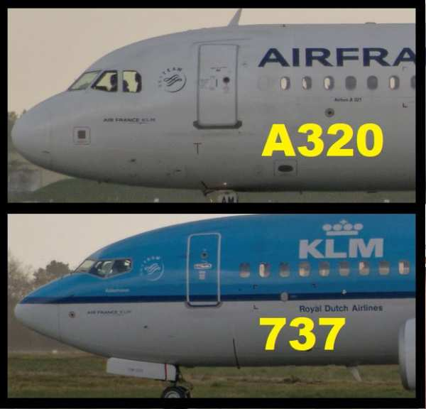 Comparatif avant A320 et B737