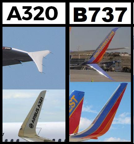 Winglets d'A320 et  B737