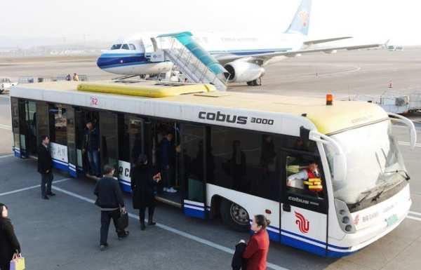 Bus sur un aéroport