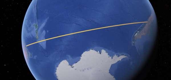 Vol entre Santiago et Sydney