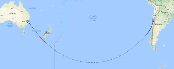 Pourquoi les avions ne traversent pas le pacifique et pôle sud ? 2