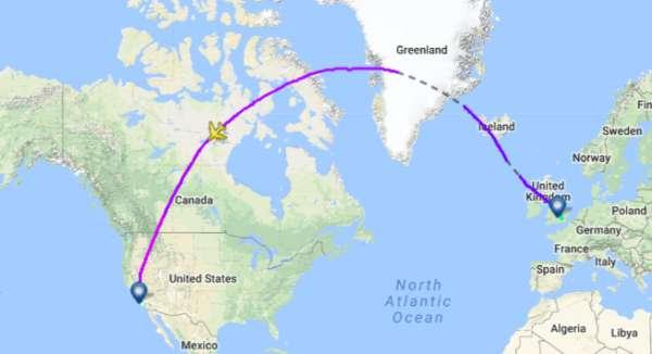 Pourquoi les avions passent par le Pôle Nord ? 1