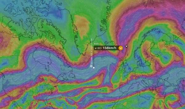 Carte des vents windy