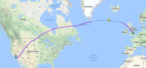 Pourquoi les avions passent par le Pôle Nord ? 3