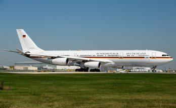 Airbus A340 angela merkel