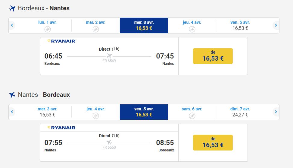 Ryanair ouvre une ligne Bordeaux-Nantes 3