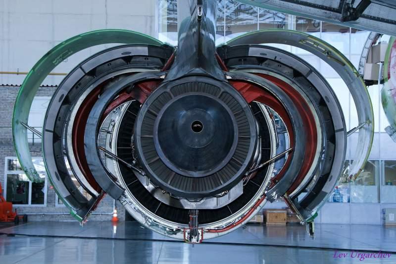 moteur d'avion ouvert