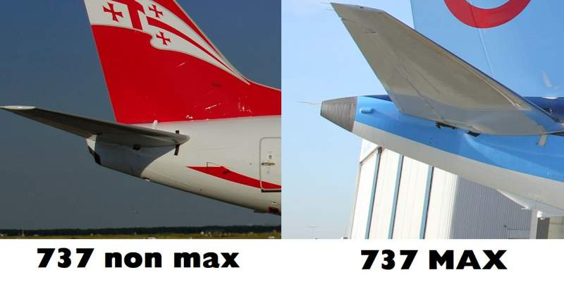 TAIL 737 VS 737 MAX