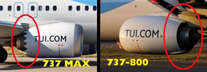 moteurs 737 800 vs MAX
