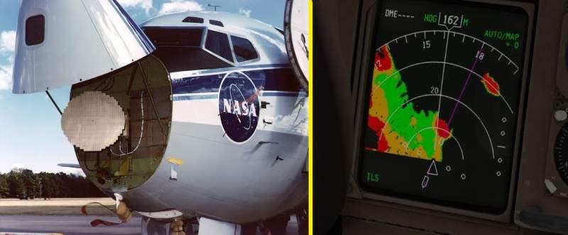 Radar météo d'un avion