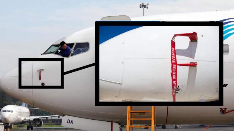 tubes pitot d'un Boeing 737