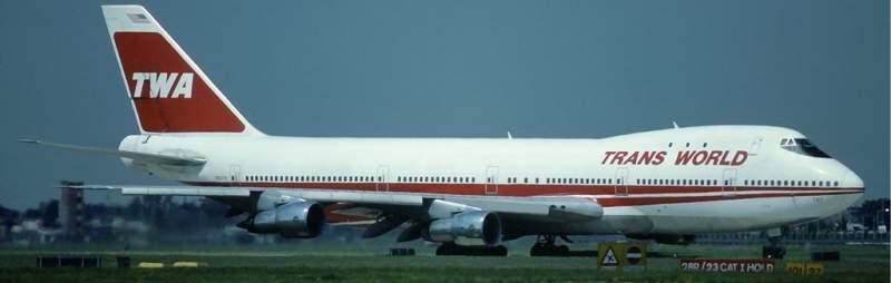Boeing 747 de la compagnie TWA