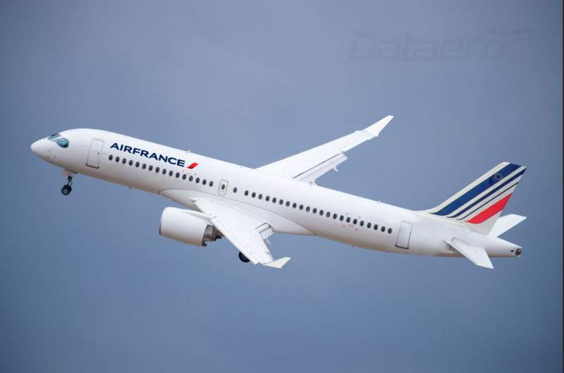 Livrée fictive d'un Airbus A220 Air France