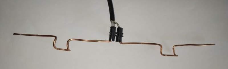 Brins de l'antenne sur le câble