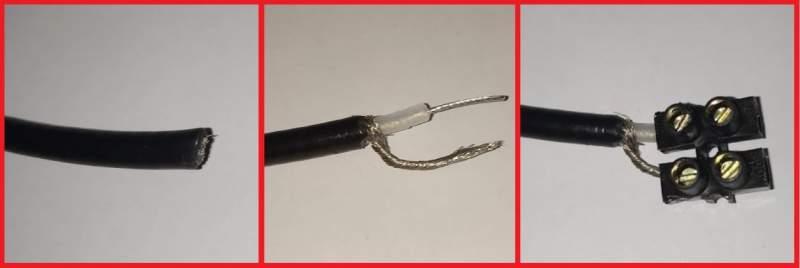 Câble coaxial RG-58 dénudé