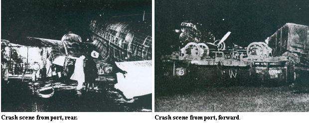Photos de l'accident du DC-3