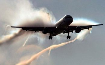 Condensation sur un avion