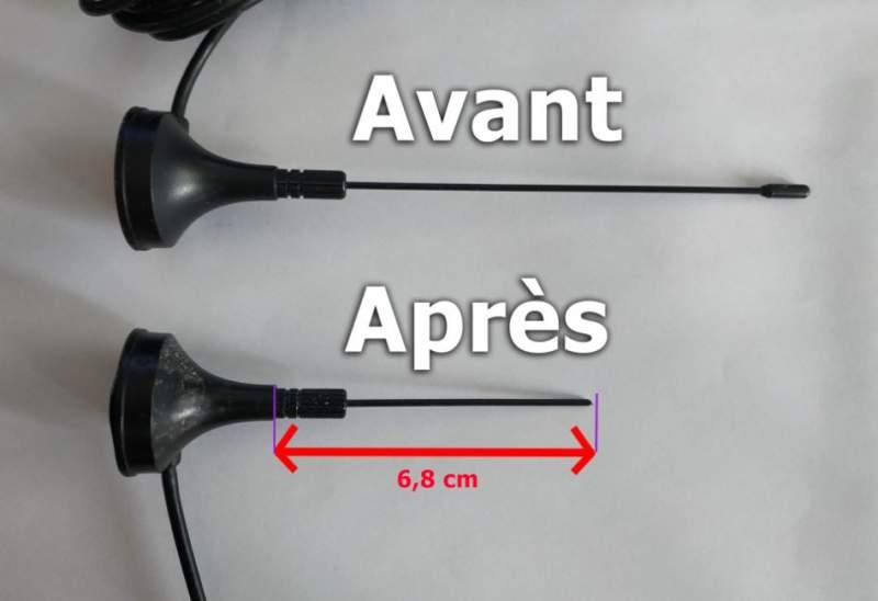 Coupe d'une antenne 1090 Mhz